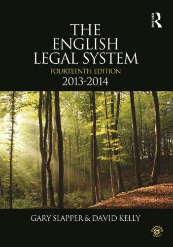 The English Legal System: 2013-2014 (Volume 2)