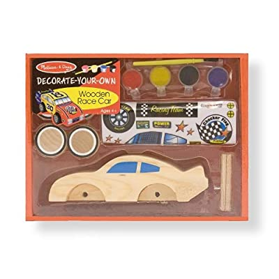 Melissa & Doug DYO Wooden Race Car: Melissa & Doug: Toys & Games