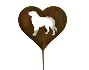 Dog Heart Garden Stake Pet Memorial