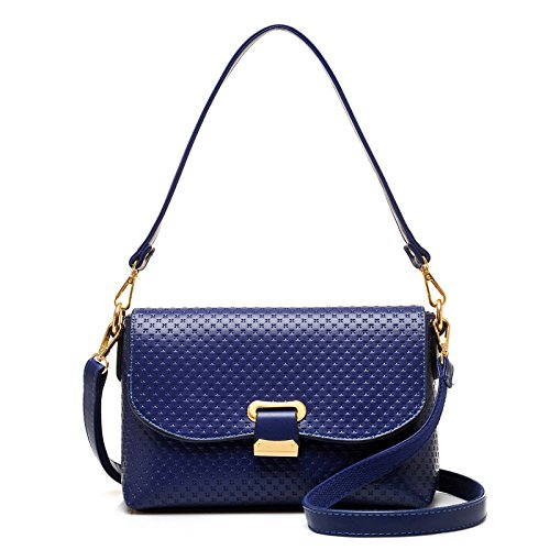 Bandoulière Bag à Blue Pour Sac Cross Crossbody Emboss Fashion Sac à Main Femme fHqn5aw