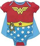 Warner Bros. Wonder Woman Baby Girls' Costume Bodysuit with Cape  Red (12-18 Months)