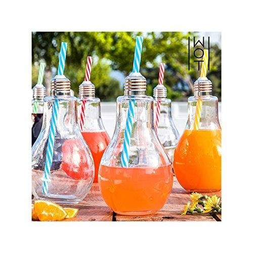 """Stai cercando una idea regalo per i tuoi amici? Non è vero che """"hanno tutto""""! Guarda questo set da 4 bicchieri a forma di lampadina, per esempio!"""