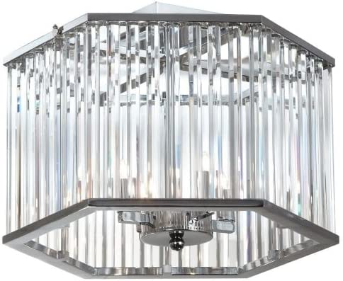 Dainolite Lighting ARU-154SF-PC 4-Light Crystal Semi Flush