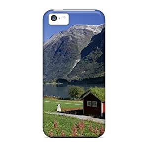 BestSellerWen High-end Case Cover Protector For iPhone 6 plus 5.5(lakeside Homes Oldenvatnet Norway)