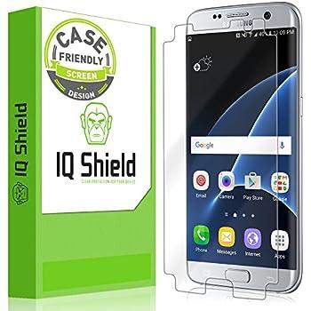 best service 236ce e21da IQ Shield Screen Protector Compatible with Samsung Galaxy S7 Edge [Case  Friendly] LiquidSkin Anti-Bubble Clear Film