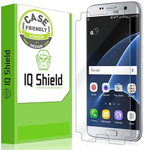 Galaxy S7 Edge Screen Protector, IQ Shield LiQuidSkin (Updated Design)(Case Friendly) Full Coverage Screen Protector for Samsung Galaxy S7 Edge HD Clear Anti-Bubble Film - with