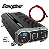 ENERGIZER 1100 Watt 12V Power Inverter, Dual 110V AC Outlets, Automotive Back Up Power Supply Car Inverter,Converts 120 Volt AC with 2 USB Ports 2.4A Each