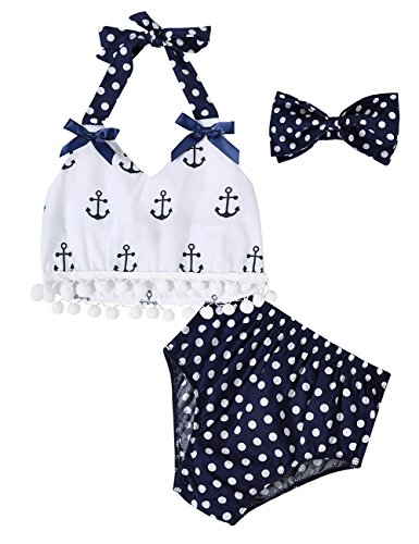 Gprince Infant Baby Girls Clothes Tops Polka Dot Briefs Outfits Set Sunsuit