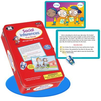 Super Duper Educational Learning Toy for Kids Social Inferences Story Fun Deck Flash Cards with Secret Decoder