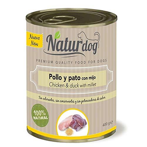 Naturdog Pienso Húmedo Perro Pollo, Pato, Mijo y Zanahoria 400gr