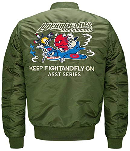5 Jacket Per Vento Size Air color Flight S Leggera Giacca Battercake Uomo A Badge Con Vintage armeegrün Force Zip Patch Comodo Da Bomber Classica RwAqSz