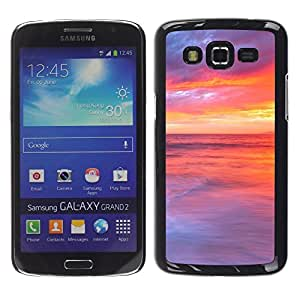 """For Samsung Galaxy Grand 2 II , S-type Sunset Beautiful Nature 48"""" - Arte & diseño plástico duro Fundas Cover Cubre Hard Case Cover"""