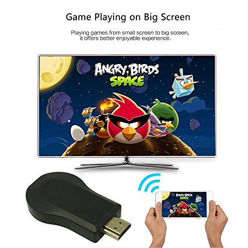 COFEND Wireless HDMI Screen Mirror Dongle WiFi Display TV Dongle Receiver 1080P For iOS Android Windows Mac OSX Support Airplay Miracast DLNA Google Home and Chrome App Cast (Square) by COFEND (Image #3)
