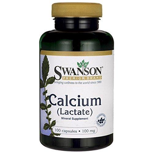 Swanson Calcium Lactate 100 Milligrams 100 Capsules