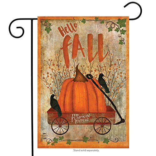 Prized Pumpkin Fall Garden Flag Primitive Autumn 12.5