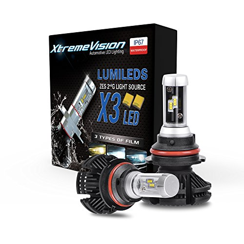 6 Dual Rate Manual - XtremeVision X3 50W 12,000LM - 9004 Dual Beam LED Headlight Conversion Kit - 3000K 6500K 8000K ZES LED - 2018 Model