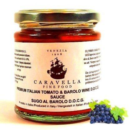 Caravella Premium Salsa de Tomate italiana orgánica con Barolo D.O.C.G. Vino tinto 180 g directamente de Venecia: Amazon.es: Alimentación y bebidas