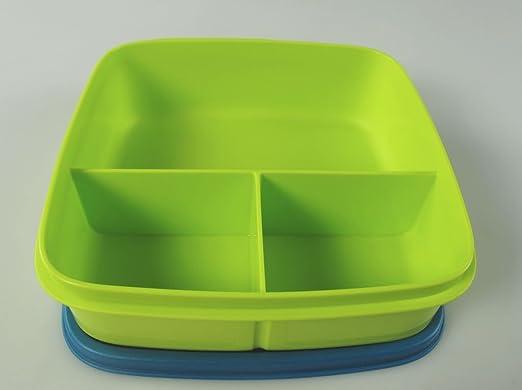 Tupperware - Fiambrera con compartimentos (550 ml), color azul y ...