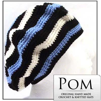 Crochet Unisex Beret Rasta Tam Hat Black Bc Amazon Clothing