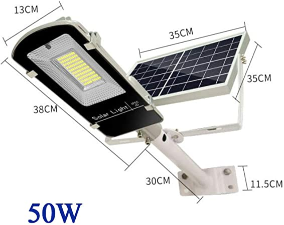 Rmckj-Q Farola Solar Exterior Lámpara Solar De Pared con Control Remoto Canalón Luces Solares Luces De Jardín Iluminación De Seguridad A Prueba De Agua,50W: Amazon.es: Hogar