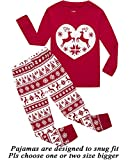 Girls Pajamas 100% Cotton Reindeer Toddler Clothes Kids Christmas Pjs Children Sleepwear Size 7