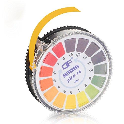 pH Test Strips pH Test Paper Strips Roll,Full Range 0-14 (5M/16ft) Chlorine Litmus Paper