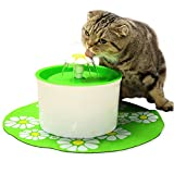 iLoving Cat Water Fountain, Automatic Water Dispenser Fountain Bowls for Pet Dog Kitty Drinking (Green) For Sale