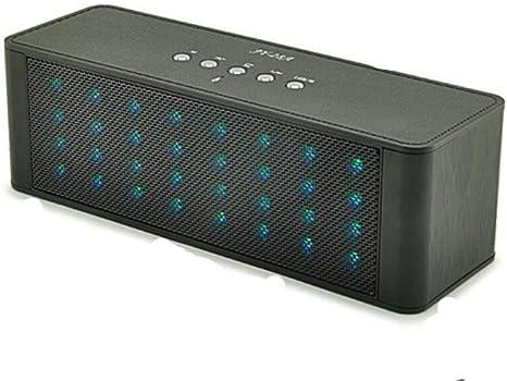 Altavoces Bluetooth inalámbrico JY-28A Tarjeta de sonido estéreo Nuevo Espectro inteligente LED Grupo de luz Bluetooth Player, Black: Amazon.es: Deportes y aire libre