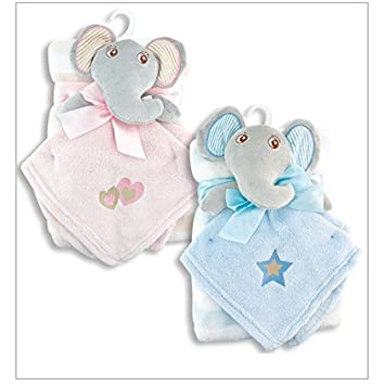 e2744c613f Amazon.com   BABY BLANKET WITH ELEPHANT SNUGGLY (BLUE)   Baby