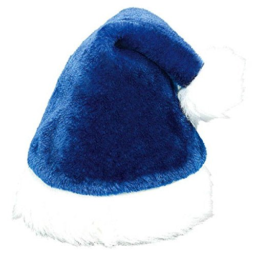 Amscan Blue Plush Santa Hat