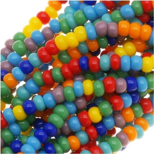 Price comparison product image Jablonex Czech Seed Beads Mix,  Size 11 / 0,  Rainbow Opaque Multi,  1 Hank Per 4000 Beads