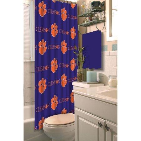 Clemson Tigers Shower Curtain - NCAA Clemson University Decorative Bath Collection Shower Curtain