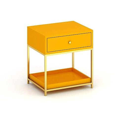 Amazon.com: Mesa auxiliar de hierro Hairhen, mesa auxiliar ...