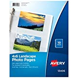 Avery Horizontal Photo Pages, Acid Free, 4 x 6