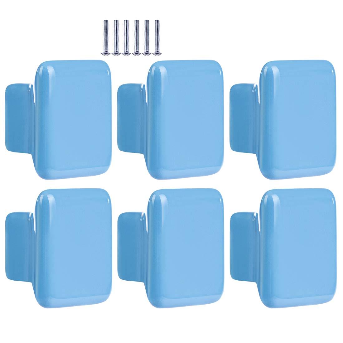 Quadratisch Blau Kinder M/öbelgriff M/öbelkn/öpfe Schrankgriffe T/ürkn/öpfe Schrankkn/öpfe Griff Knopf Batop 10Pcs M/öbelkn/öpfe Kinderzimmer 35x35x22mm