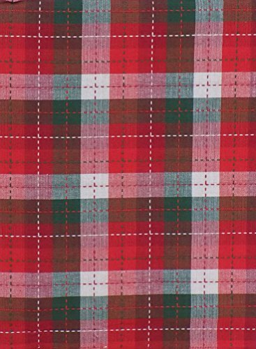 perfect setting christmas holiday plaid fabric tablecloth 52 x 70 - Christmas Plaid Fabric