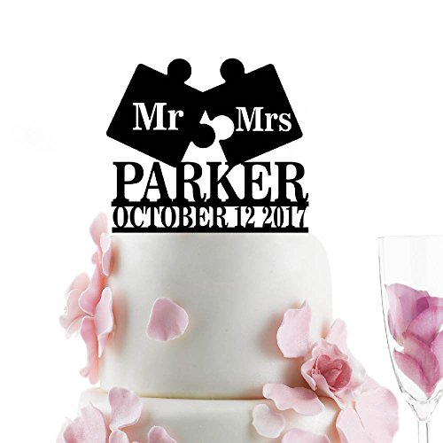 Mr Puzzle Personalized Wedding Topper product image