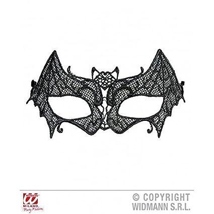 Máscara de pestañas Murciélago de negro Encaje para Carnaval / Halloween / Máscara de Halloween /