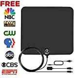 Get TV Antenna, Indoor Amplified HDTV Antenna with 50 Mile Range Detachable Amplifier Signal Booster and 13.2FT High Performance Coax Cable for Better Reception