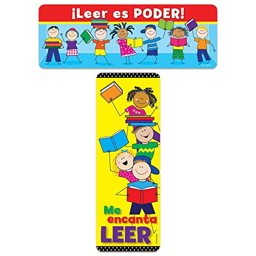 Creative Teaching Press Leer es Ponder! Reading is Power! Spanish Bookmark (8237) (In Alabama Outlet)
