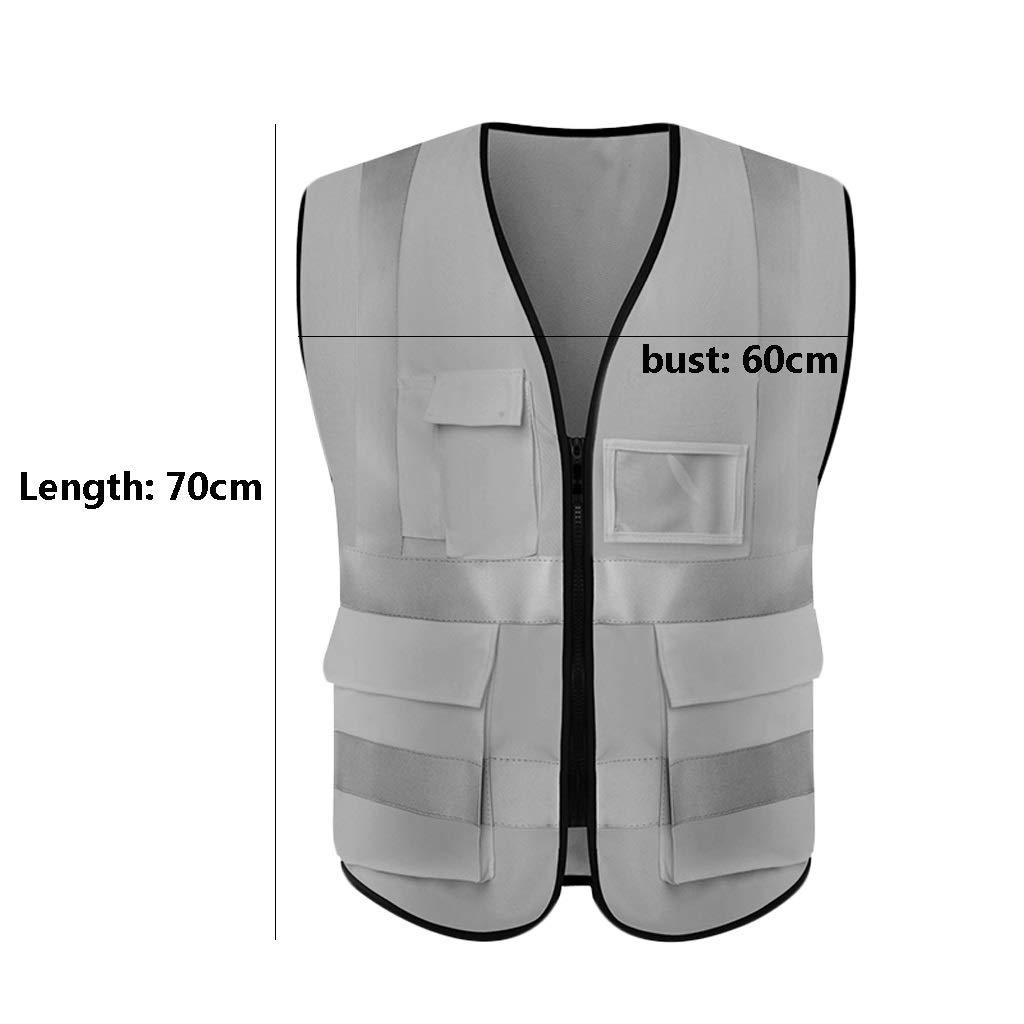 Safety vests LQ Gilet Haute visibilit/é V/êtements de Travail l/égers et Respirants Voyages de Nuit Gilet de s/écurit/é r/éfl/échissant for la s/écurit/é Gilets de s/écurit/é
