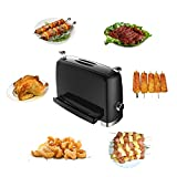 Electric Grill Indoor/Outdoor Smokeless Save Space Stainless Steel Barbecue Multifunctional Standing Oven Easy Quick for Chicken Wings, Pork, Turkey, Beef and Vegetables by Hekitech Review