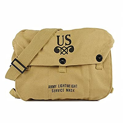 Oleader WW2 US Army M6 Gas Mask Carry Bag & WW2 US M1936 Backpack Musette Bag from Oleader