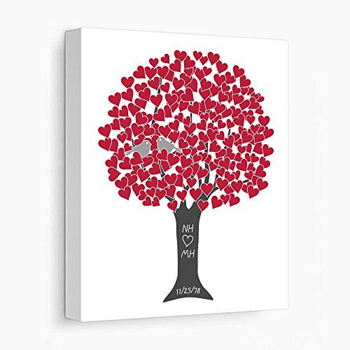 Personalized Anniversary Gift for Parents 40th Ruby Wedding Anniversary - Stretched Canvas