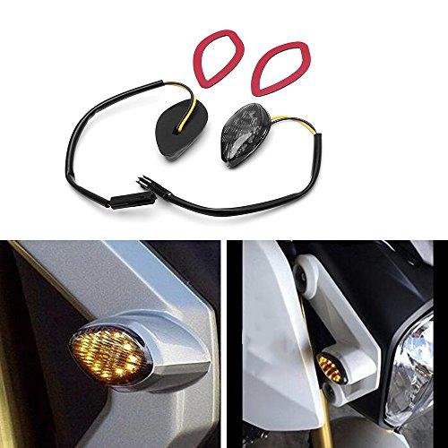 APE Amber LED Flush Mount Smoke Turn Signal Light Brake Tail Blinker Indicator Marker Lamp for Honda Grom 2014-2016 Grom Flush LED Turn Signals (Pack of ()