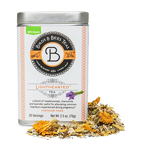Light Hearted Organic Heartburn Tea from Birds & Bees Teas - Cools and soothes Heartburn Discomfort! A Delicious Blend, that is a natural remedy for acid reflux! (~30 - Acid New