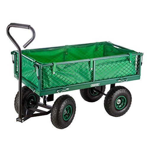 Draper Steel Mesh Garden Cart with Liner