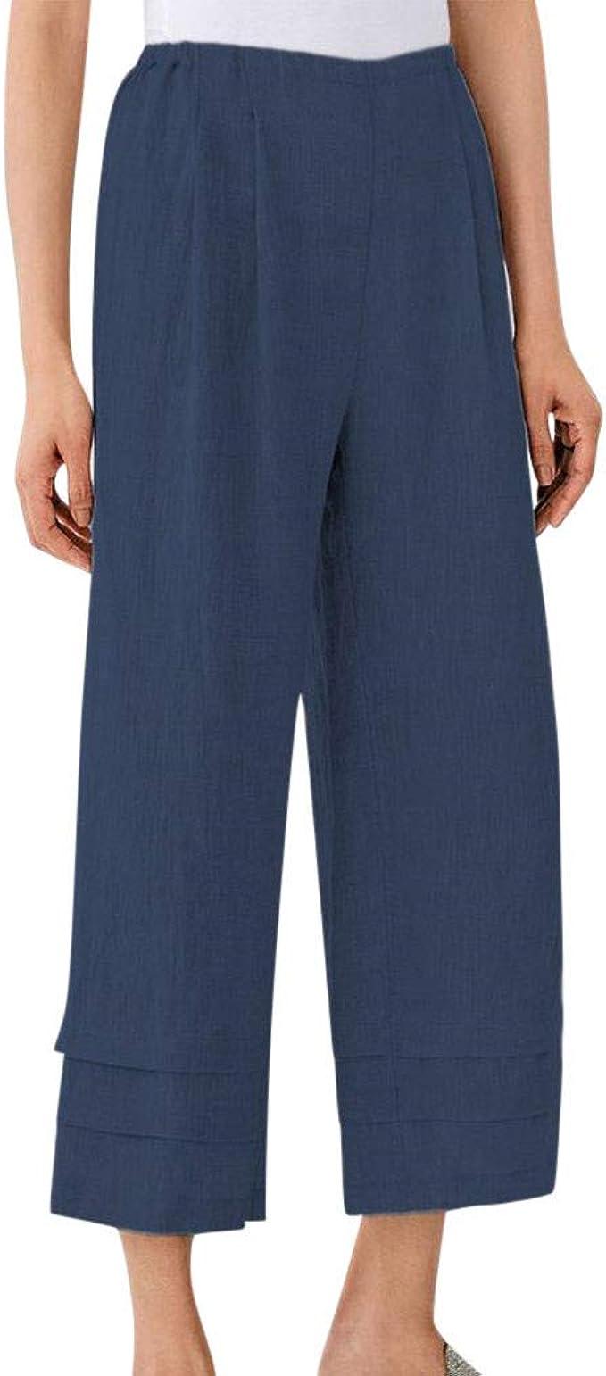 VICGREY Pantaloni Donna Larghi Harem Pantaloni Casual