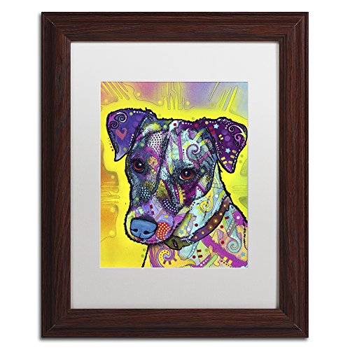 Russell Frame Jack - Jack Russell by Dean Russo, White Matte, Wood Frame 11x14-Inch
