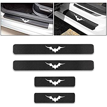 For SPORTAGE 4D M Car Pedal Covers Door Sill Protectors Entry Guard Scuff Plate Trims Anti-Scratch Reflective Carbon Fiber Stickers Auto Accessories Exterior Styling 4Pcs Red